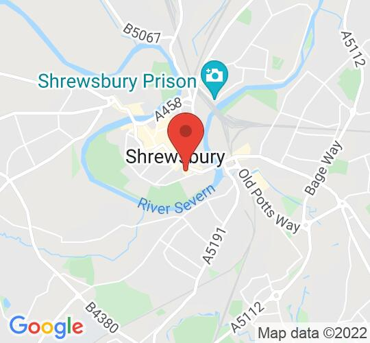 Google map static shot of Live in the House, Shrewsbury, SY1 1XA