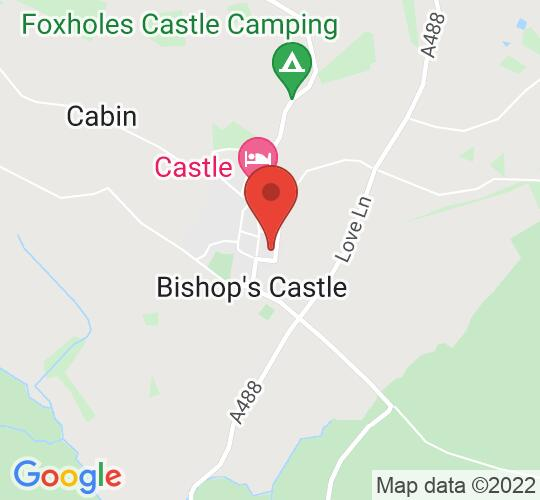 Google map static shot of Auction Yard Car Park, Bishop's Castle, SY9 5AQ