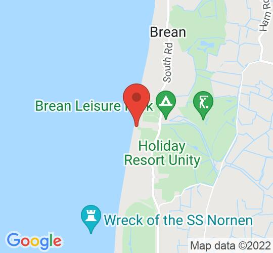 Google map static shot of Brean Splash Waterpark, Burnham-on-Sea, TA8 2QY