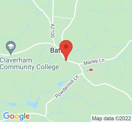 Google map static shot of Battle Abbey, East Sussex, TN33 0AE
