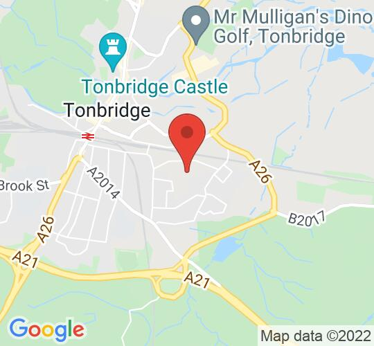 Google map static shot of The Bovey Studio Theatre, Kent, TN9 2HE