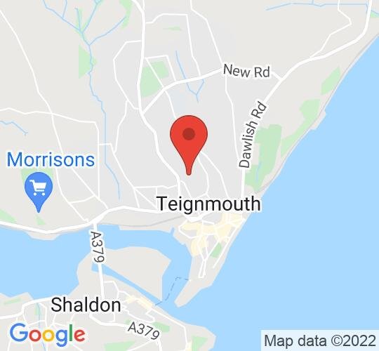 Google map static shot of Teignmouth Community School - Performing Arts Centre, Teignmouth, TQ14 9HZ