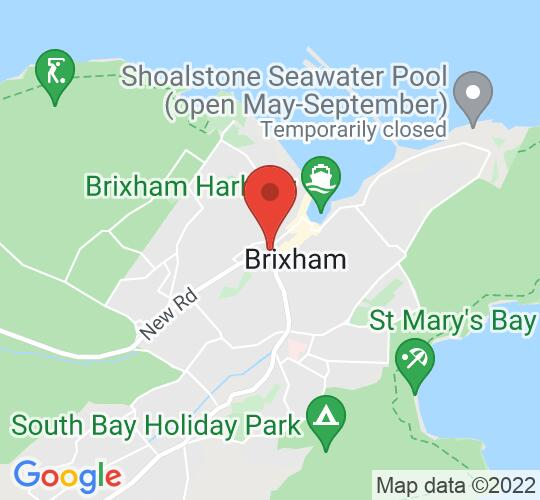 Google map static shot of Brixham Theatre, Devon, TQ5 8TA