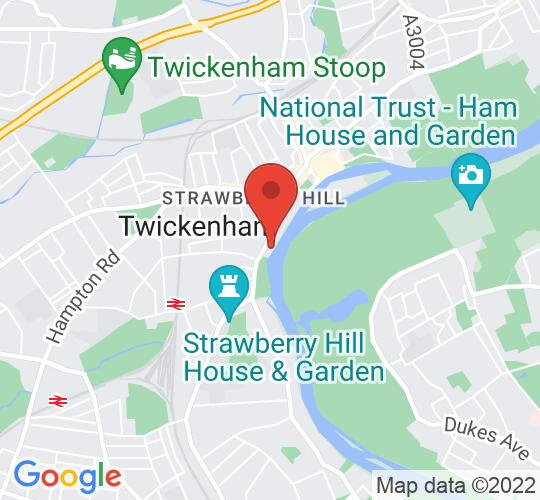 Google map static shot of Radnor House School, Twickenham, TW1 4QG