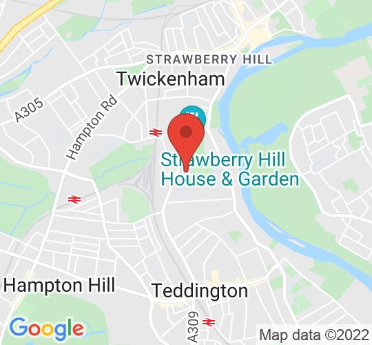 Google map static shot of St Mary's University, Twickenham, TW1 4SX
