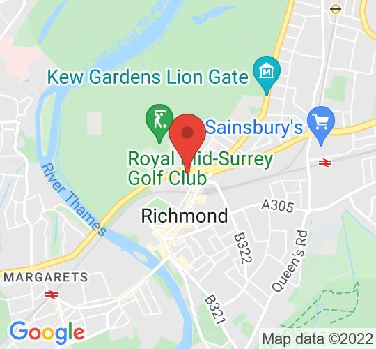 Google map static shot of Richmond and Hillcroft Adult Community College, London, TW9 2RE