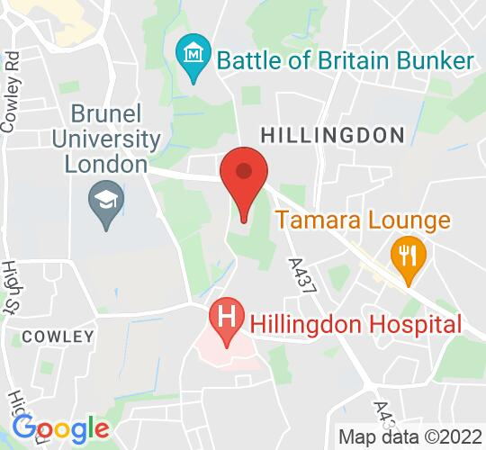 Google map static shot of Bishopshalt School, Hillingdon, UB8 3RF