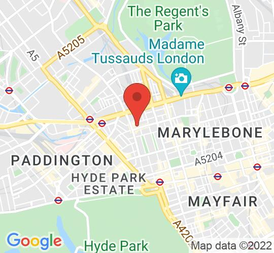 Google map static shot of St Mary's Event Venue London, London, W1H 1PP