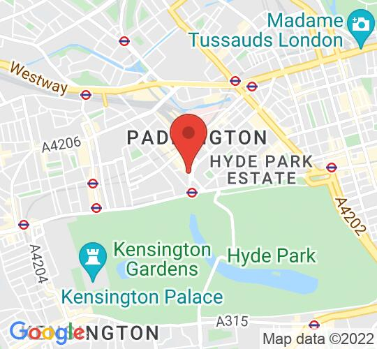 Google map static shot of St James's Sussex Gardens, London, W2 3UD