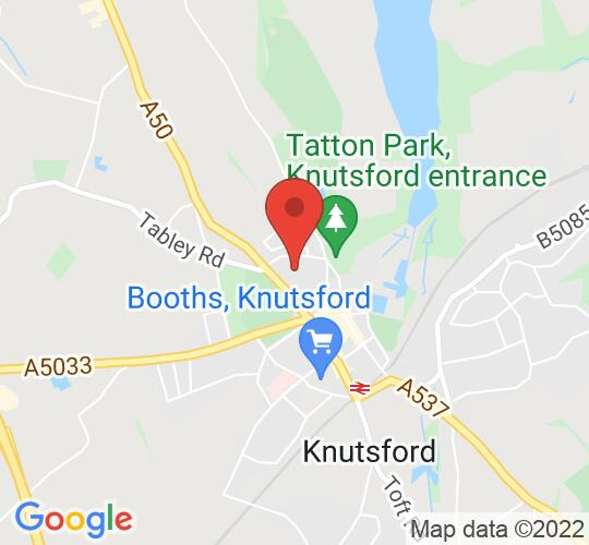 Google map static shot of Knutsford Little Theatre, Knutsford, WA16 6HZ