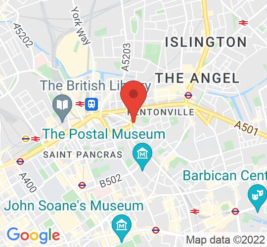 Google map static shot of KCBC, King's Cross, WC1X 9EP