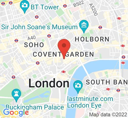 "Google map static shot of St Paul's Covent Garden (""The Actors' Church""), London, WC2E 9ED"