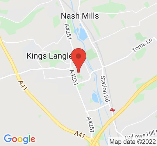 Google map static shot of Kings Langley Community Centre, Kings Langley, WD4 8ET
