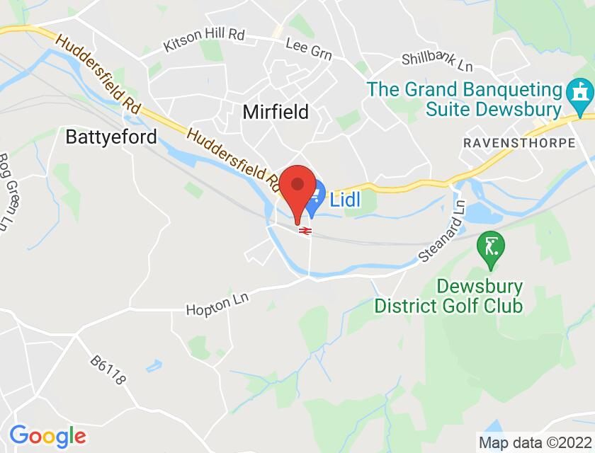 Google map static shot of The Navigation Tavern, Mirfield, WF14 8NL