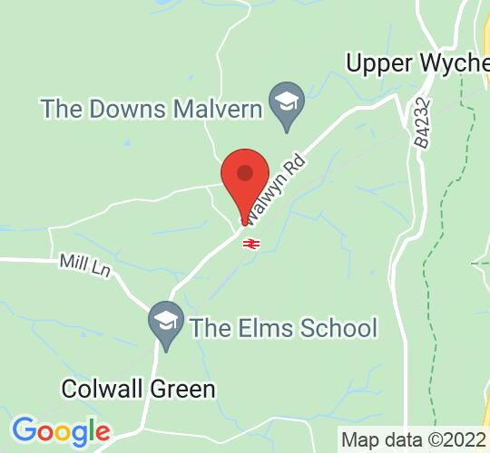 Google map static shot of Colwall Park Hotel, Worcestershire, WR13 6QG