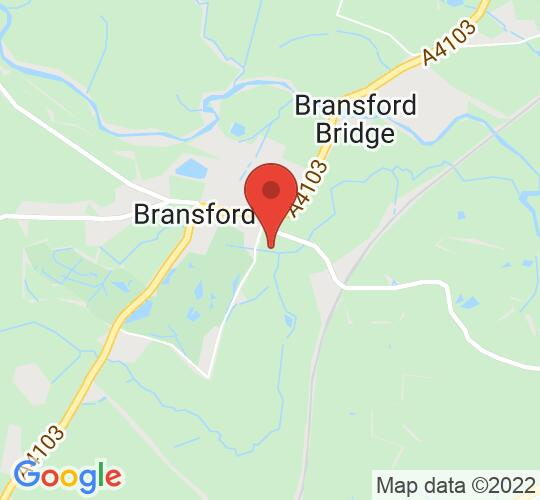 Google map static shot of Ahimsa, Worcestershire, WR6 5JB