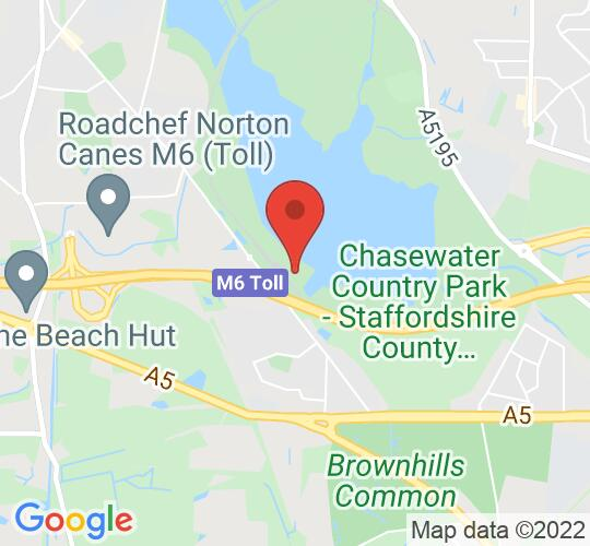 Google map static shot of Chasewater Railway - Brownhills West Station, Chasewater Country Park, WS8 7NL