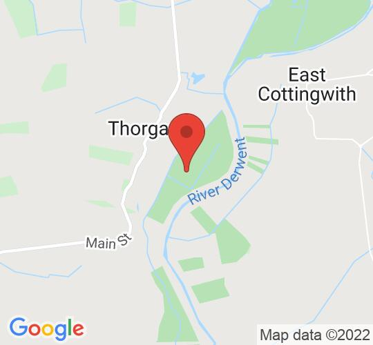 Google map static shot of Thorganby Village Hall, York, YO19 6DA